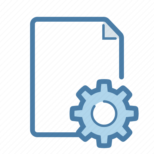 config, document, file, gear, options, page, settings icon