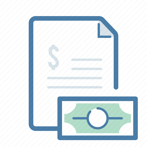 checkout, document, dollar, file, invoice, payment, salary icon