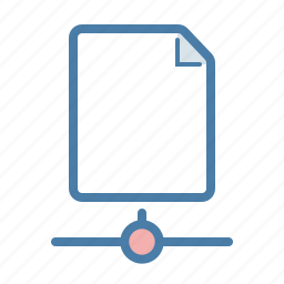 document, file, network, online, page, share, sharing icon