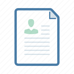 cv, document, file, page, portfolio, profile, resume icon