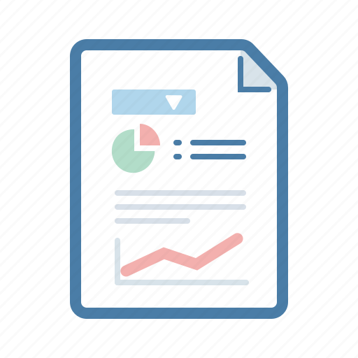 analytics, document, file, page, report, sales, statistic icon