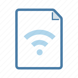 connection, document, file, page, share, sharing, wifi icon