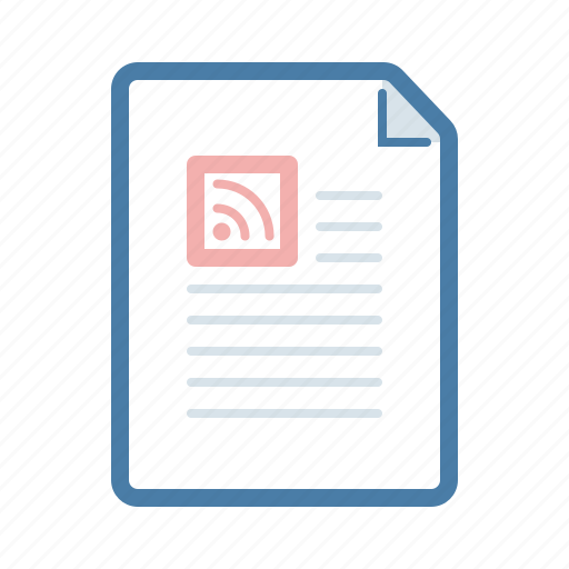 document, feed, file, news, page, rss, subscribtion icon