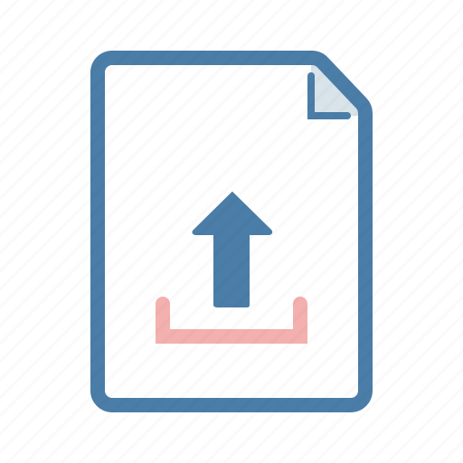 arrow, document, file, page, share, up, upload icon