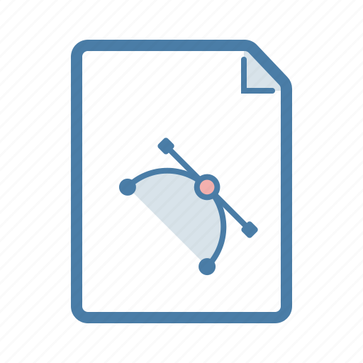 curve, document, editable, file, page, pen tool, pic icon