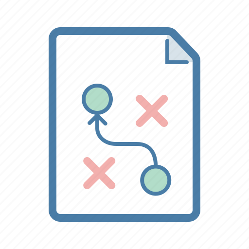 document, file, page, plan, planning, strategy, wayout icon