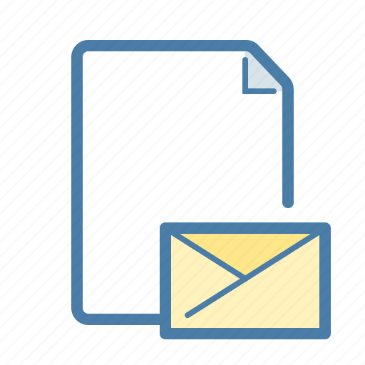 attachment, document, email, envelope, file, mail, page icon