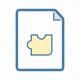 document, file, page, plan, puzzle, solution, task icon