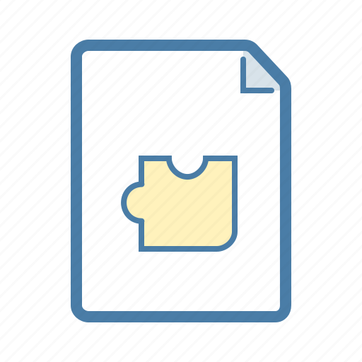 file, puzzle, solution, task icon