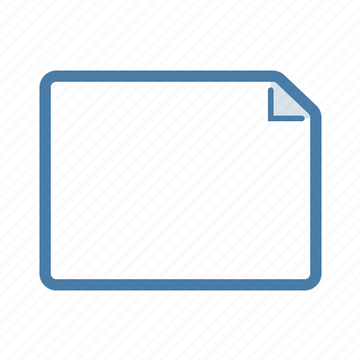 blank, document, file, format, landscape, page icon