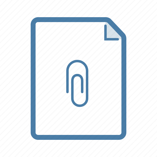 attach, attachment, document, email, fastener, file, page icon