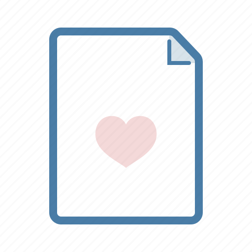 document, fav, favourite, file, heart, like, page icon