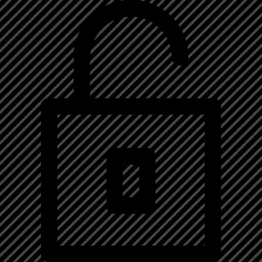 lock, open, safe icon