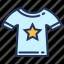 clothes, print design, star, t-shirt icon