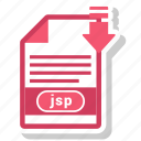document, extension, file, jsp, type icon