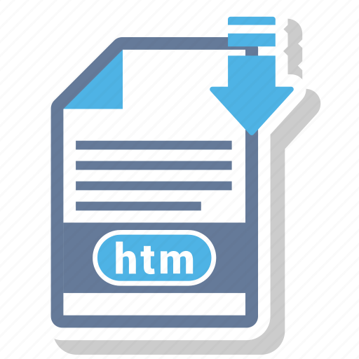 document, extension, file, htm, type icon