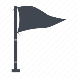 flag, flying, target icon