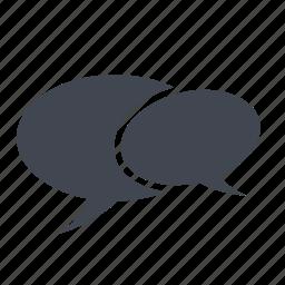 bubble, chat, comment, comments, dialogue, discuss, message, speech, talk icon