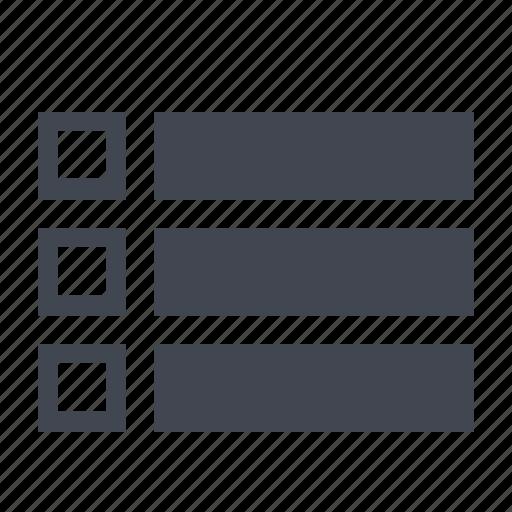 line, list icon