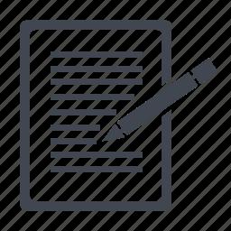 blog, drawing, notepad, pad, paper, writing, writing pad icon