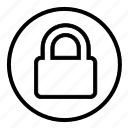 locked, padlock, password, safe, security icon