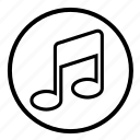 audio, multimedia, music, musicnotes, notes, sound icon