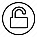 open, unlocked, unsafe, unsecure icon