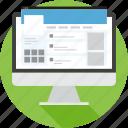 browser, media, social, tweet, twitter, website icon