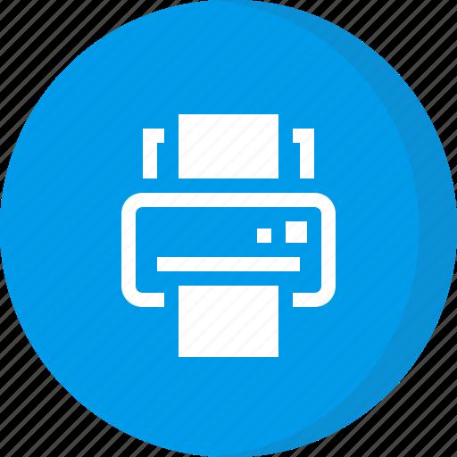 fax, inkjet printer, office printer, print, printer icon