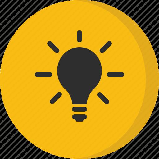 bulb, creative, idea, illuminate, inspiration, light, light bulb icon
