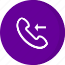 answer, call incoming, incoming, incoming call, receiver icon