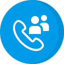 group call, meeting, user call icon