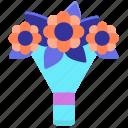 bouquet, bridal, flower icon