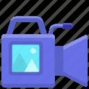 camcoder, cinema, film, movie, video icon
