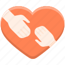 caring, gesture, hand, heart icon