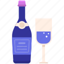 alcohol, beer, beverage, bottle, champagne, drink, party icon