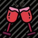celebration, cheers, drinks, glasses icon