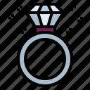 diamond, jewel, ring, wedding