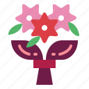bouquet, flowers, love, roses icon