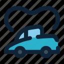 automotive, car, transport, vehicle, wedding icon