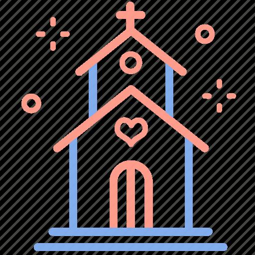 building, church, love, marriage, planner, venue, wedding icon
