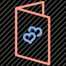 card, invitation, love, marriage, romantic, valentine, wedding icon