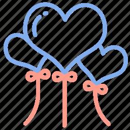 balloons, celebration, decoration, love, marriage, planner, wedding icon