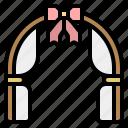 arch, wedding icon