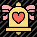 bell, ribbon, wedding icon