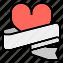 heart, label, logo, wedding icon