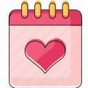 calendar, date, heart, marriage, party, time, wedding icon