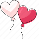 balloon, heart, marriage, romance, wedding icon