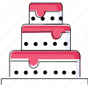 bride, cake, marriage, party, wedding icon