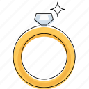 diamond, love, marriage, ring, romance, wedding icon